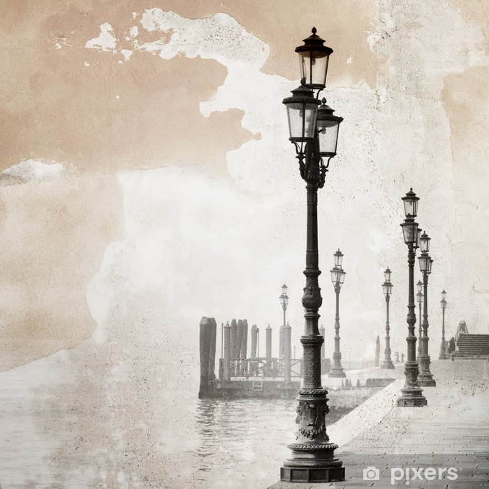Vinyl-Fototapete Jahrgang Bild von Venedig - Stile