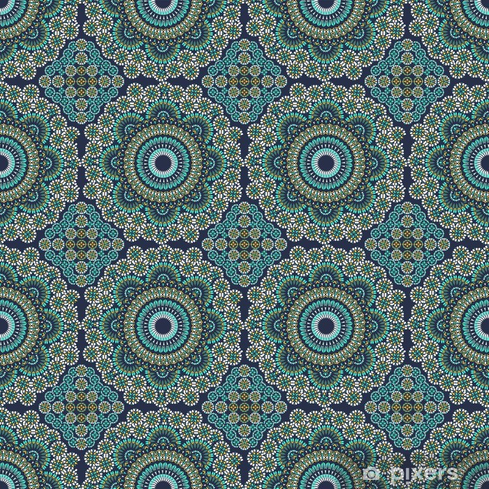 Naklejka Pixerstick Bezproblemowa w Mosaic Ethnic Style. - Style