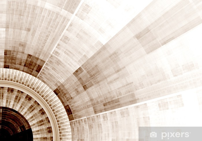 Naklejka Pixerstick Wygenerowane komputerowo ilustracji wydanego Fractal niebieski słoneczną - Tła