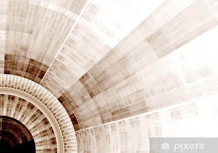 Papier peint vinyle Généré par ordinateur illustration rendu fractale bleu solaire - Arrière plans
