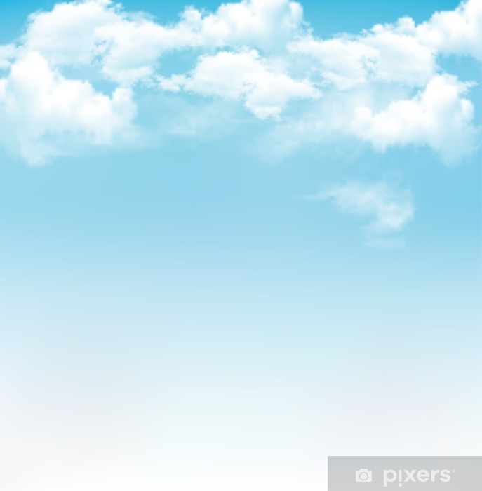 blue sky with clouds vector background wall mural pixers we