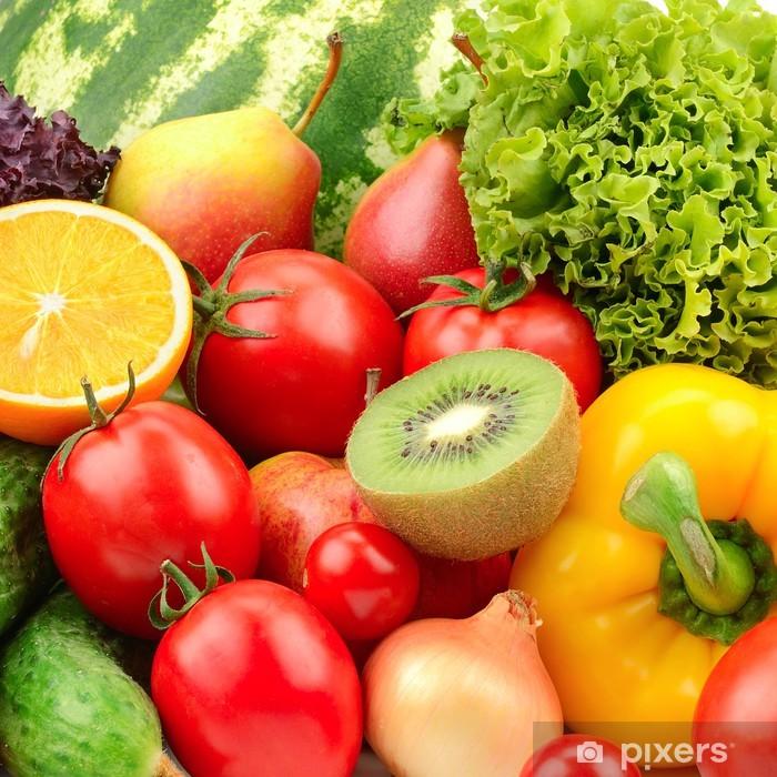 Pixerstick Aufkleber Sammlung Obst und Gemüse Hintergrund - Themen