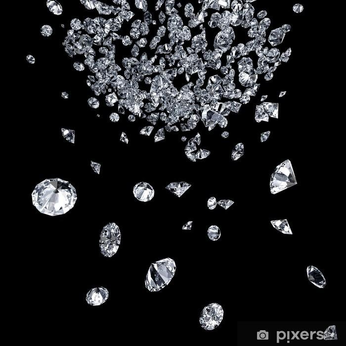 Pixerstick Aufkleber Diamanten auf schwarzem - Leistung und Erfolg