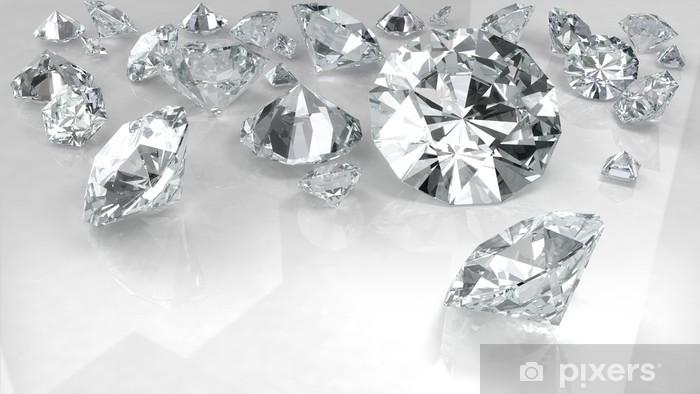 Sticker Pixerstick Diamants sur fond blanc - Réussite