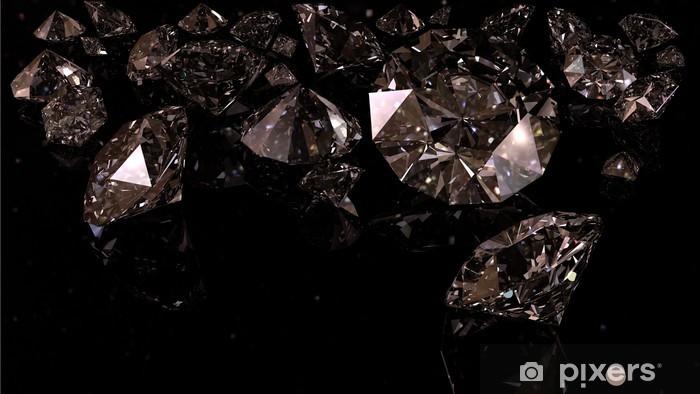Sticker Pixerstick Diamants noirs - Destin