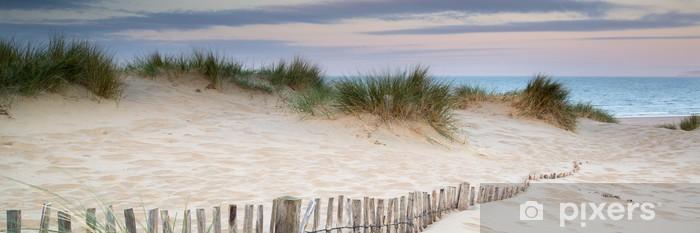 Fototapeta winylowa Panorama krajobraz systemu wydmy na plaży o wschodzie słońca - Tematy