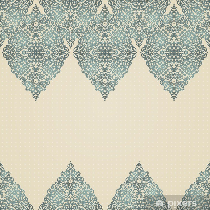 Vintage seamless border with lacy ornament. Poster - Styles