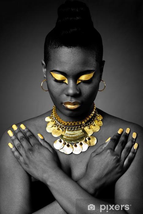 Fototapeta winylowa Afrykański tribal w złocie - Uroda i pielęgnacja ciała