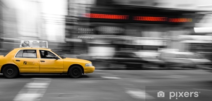 New York Taxi Cab Self-Adhesive Wall Mural - American Cities