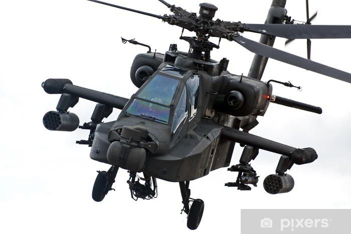 Zelfklevend Fotobehang Apache helikopter - Lucht