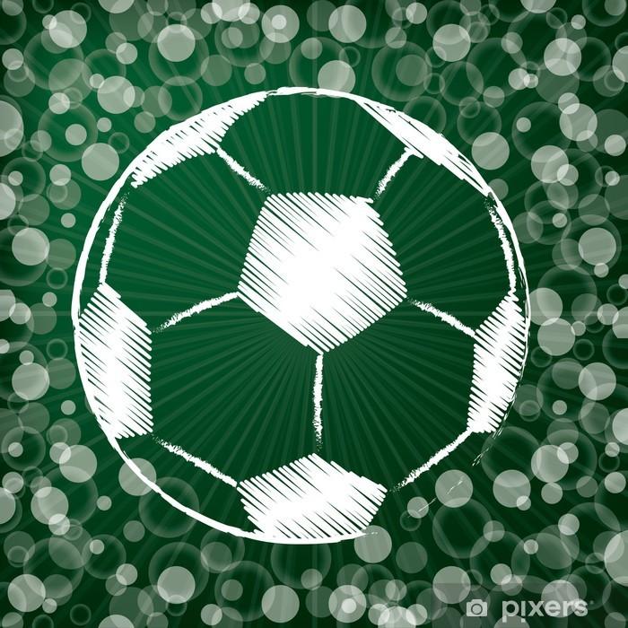 Fotomural Estándar Balón de fútbol en fondo verde abstracto - Deportes de  equipo 43c3a47bd6d49