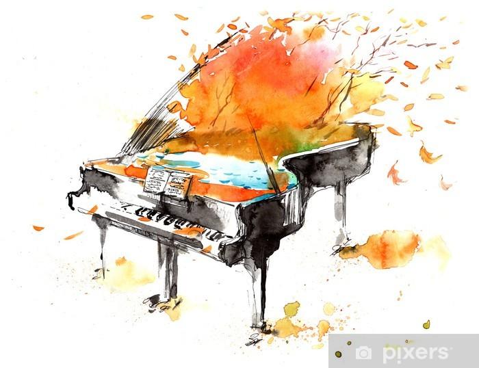 Papier peint vinyle Sons de la nature - Musique