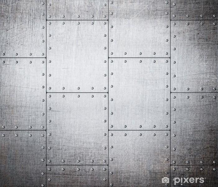 metal plates background Vinyl Wall Mural - Styles