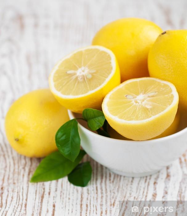Sticker Pixerstick Lemons - Fruits