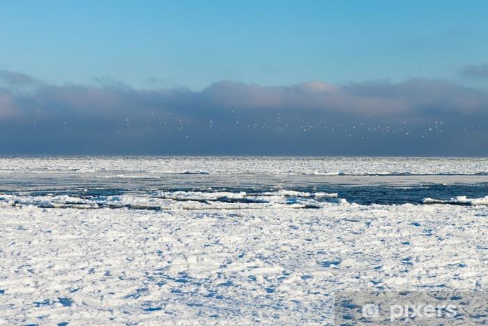 Naklejka Pixerstick Zamrożone morze Bałtyckie. - Pory roku