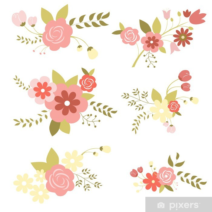 Nálepka Pixerstick Set_of_flowers - Pozadí