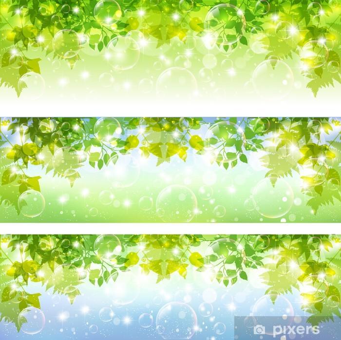 Sticker Pixerstick 葉 背景 シ ャ ボ ン 玉 - Évènements nationaux