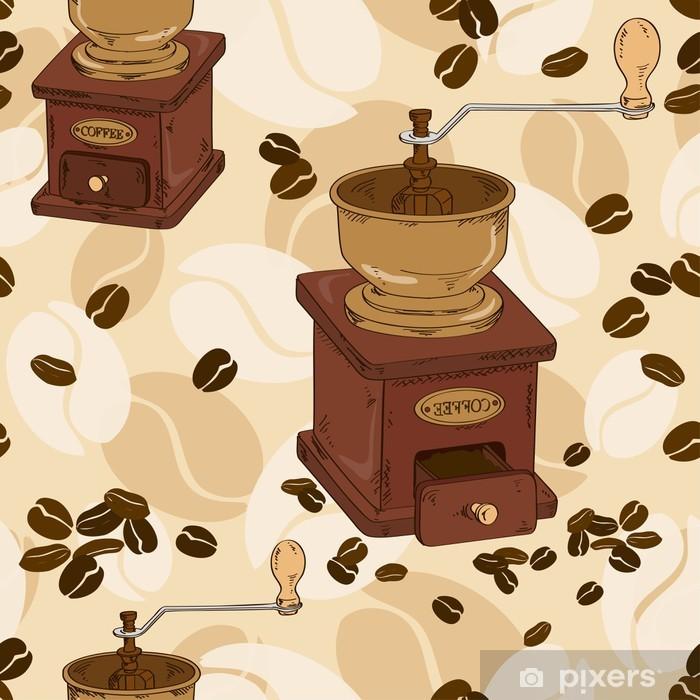 Fotomural Estándar Patrón transparente de molinillo de café - Para cafetería