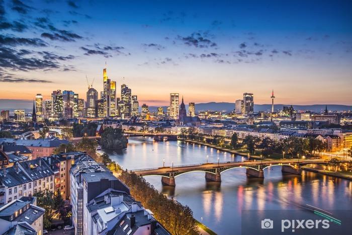 Frankfurt, Germany Aerial View Pixerstick Sticker - Germany