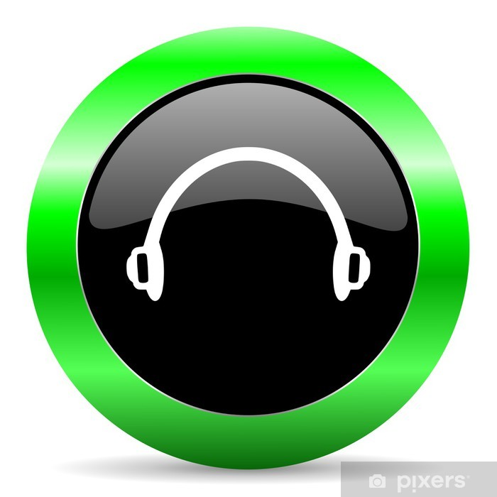 headphones icon Pixerstick Sticker - Networks and the Internet