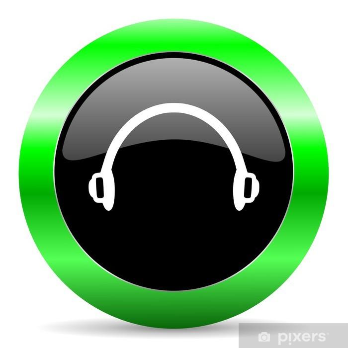 Vinilo Pixerstick Icono de los auriculares - Internet y redes
