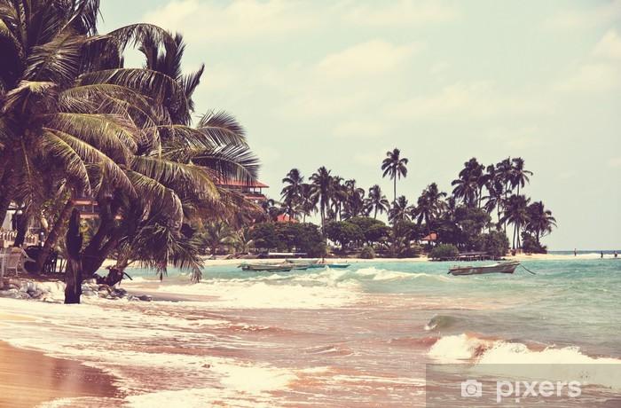 Naklejka Pixerstick Tropikalna plaża - Tematy