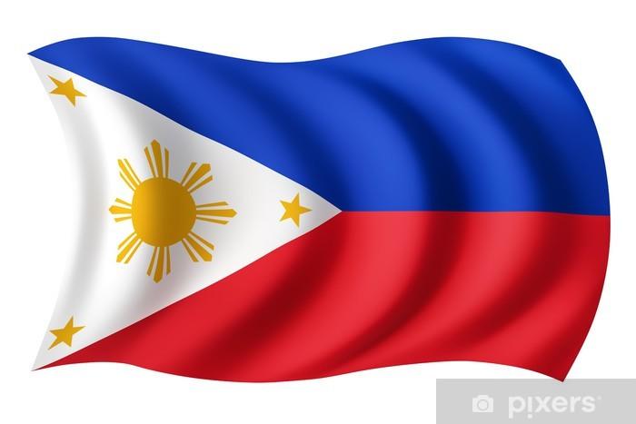 Vinyl Fotobehang Filipijnen vlag - Filipijnse vlag - Vakantie