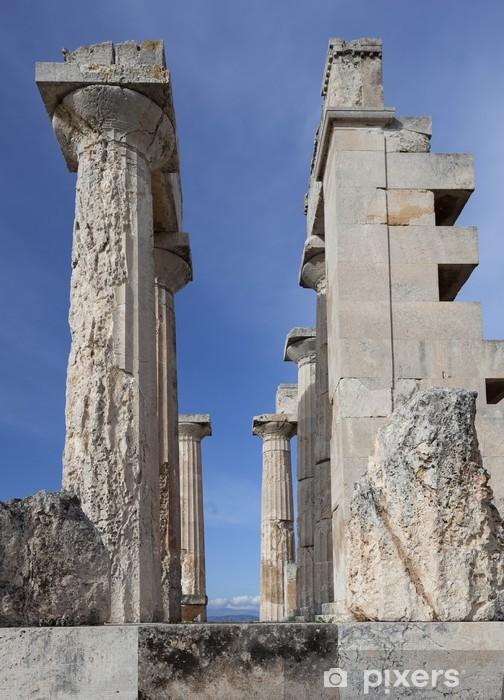 Naklejka Pixerstick Aphaia świątynia na wyspie Egina w Grecji - Europa