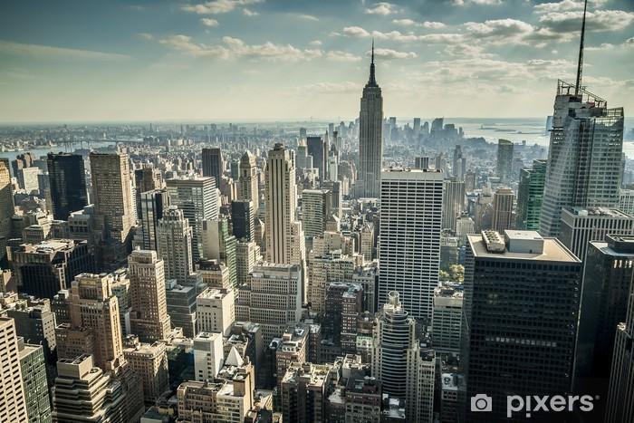 Vinilo Pixerstick La ciudad de Nueva York en los EE.UU. -