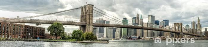 Fotomural Estándar El puente de Brooklyn en la ciudad de Nueva York, EE.UU. - Temas