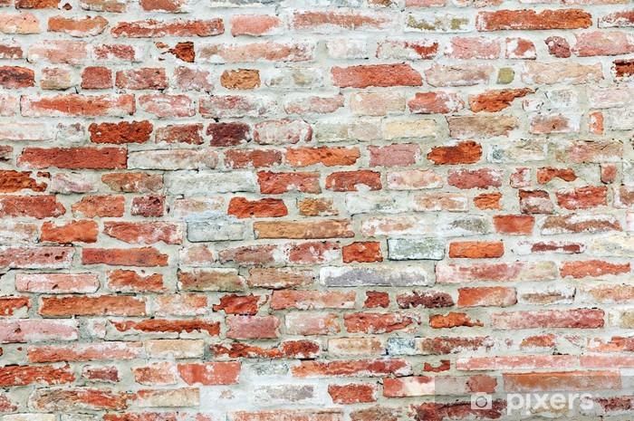fotobehang oude bakstenen muur • pixers® - we leven om te veranderen