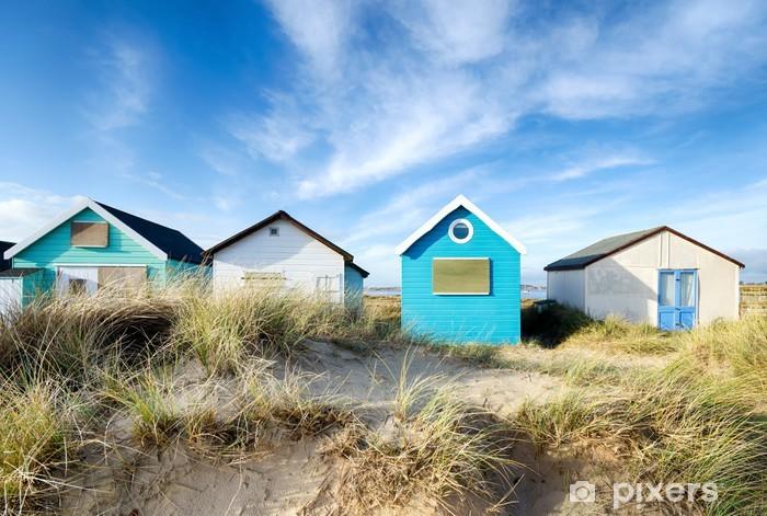 Beach Huts Pixerstick Sticker - iStaging