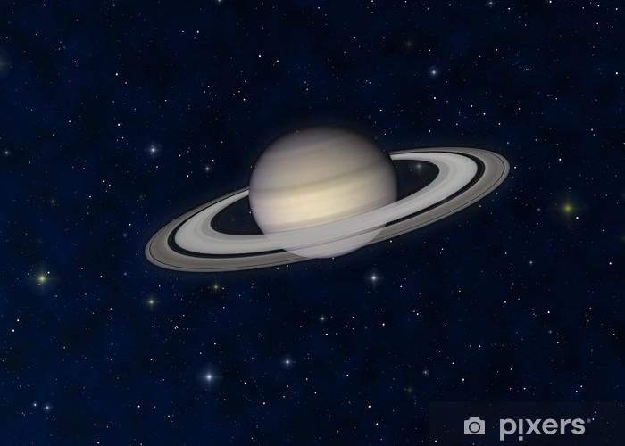 Sticker Pixerstick Saturn - Espace