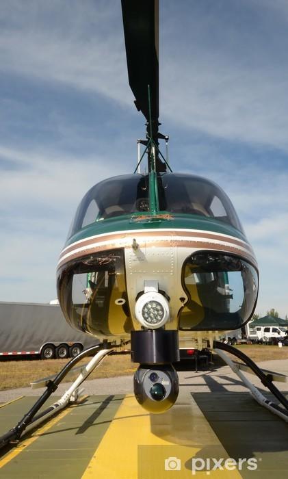 Naklejka Pixerstick Przedni widok policji śmigłowiec - Transport powietrzny