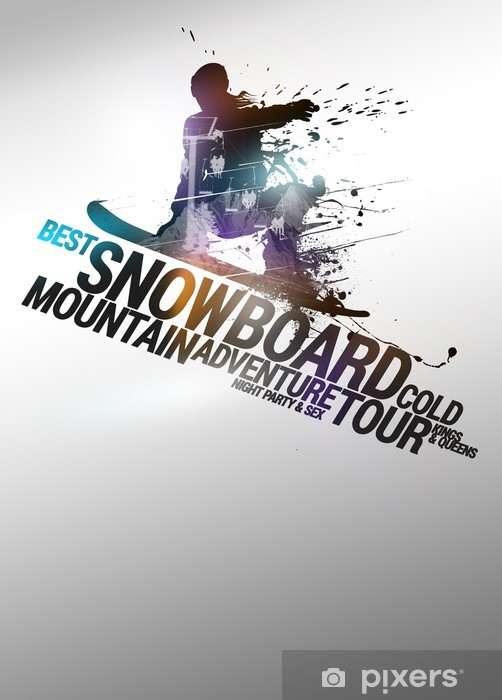 Snowboard background Self-Adhesive Wall Mural - Winter Sports