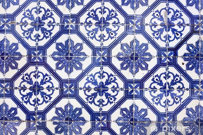 Vinilo para Nevera Azulejos portugueses tradicionales (azulejos), Lisboa, Europa - iStaging