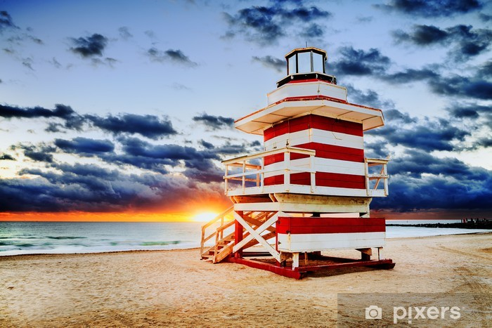 Fototapeta winylowa Miami South Beach sunrise - Ameryka