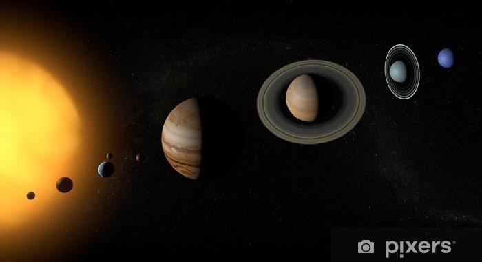 Papier peint vinyle Planètes du système solaire espace univers soleil - Planètes