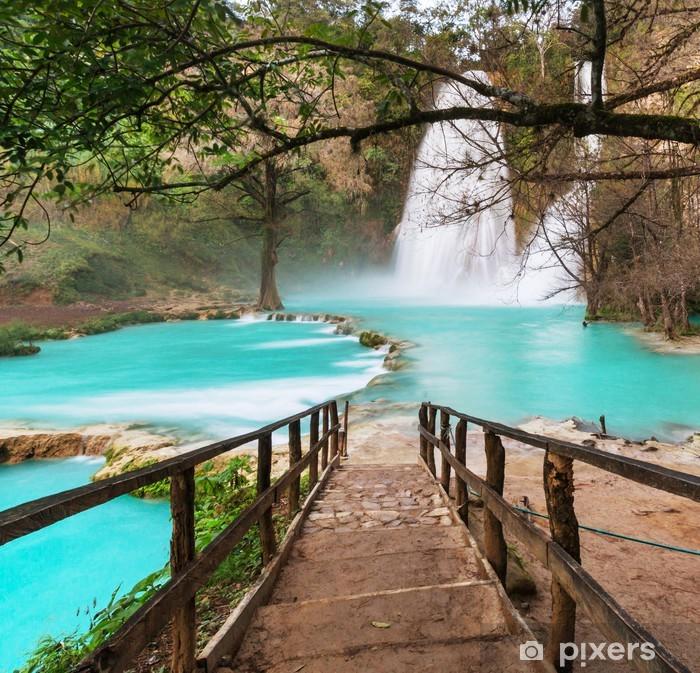 Fototapeta winylowa Wodospad w Meksyku - Tematy