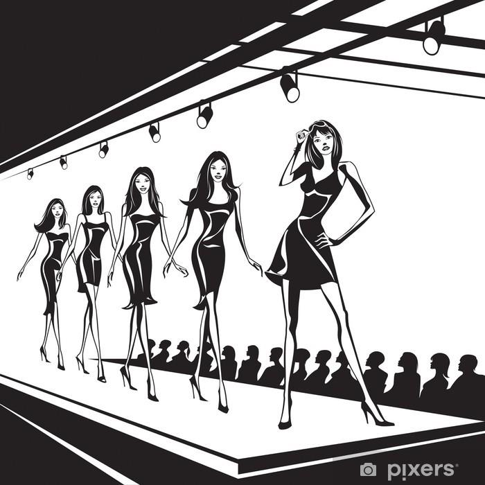 Vinilos De Moda.Vinilo Modelos De Moda Representan Ropa Nueva Pixerstick