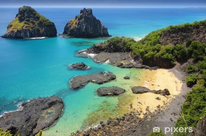Pixerstick Aufkleber Tropischer Strand mit einem Korallenriff - Korallenriffe