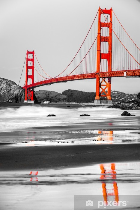 Golden Gate, San Francisco, California, USA. Pixerstick Sticker - North America