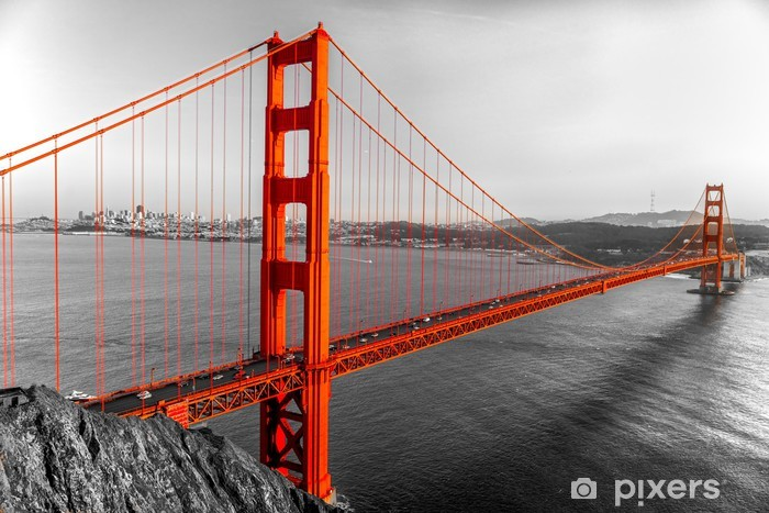 Naklejka Pixerstick Golden Gate, San Francisco, Kalifornia, USA. - Style