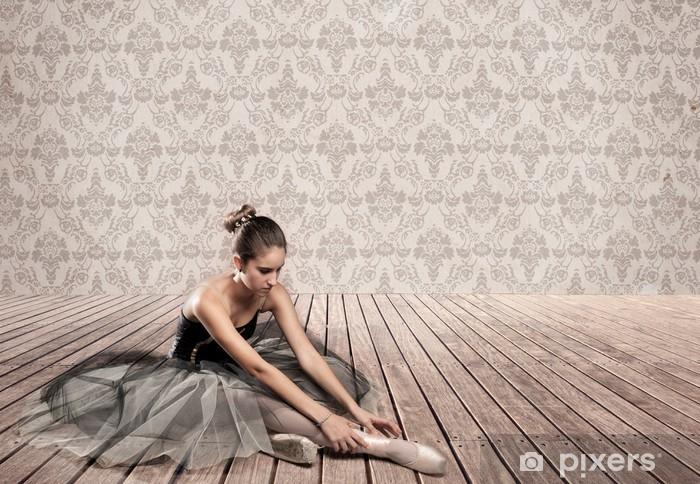 Papier peint vinyle Ballerine attrayant assis - Thèmes