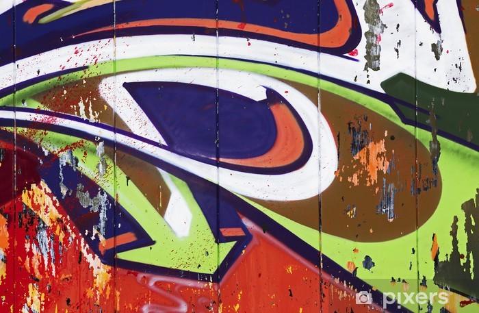 Papier peint vinyle Flèche colorée murale - Art et création