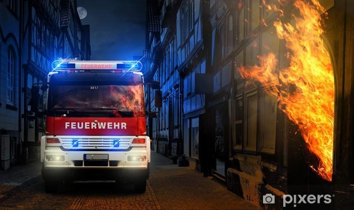 Vinylová fototapeta Feuer in der Stadt - Vinylová fototapeta