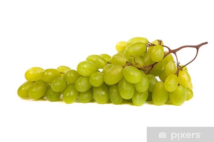 Fototapeta winylowa Kiść winogron zielony r. samodzielnie - Posiłki