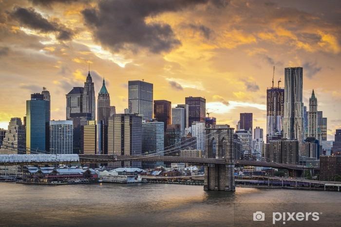 New York City Skyline Pixerstick Sticker -