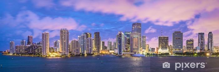 Vinyl Fotobehang Miami, Panoramische skyline Florida - Amerika