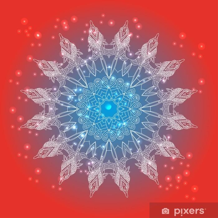 Fototapeta winylowa Wektor delikatny kwiatowy wzór koronki okrągły - Religie